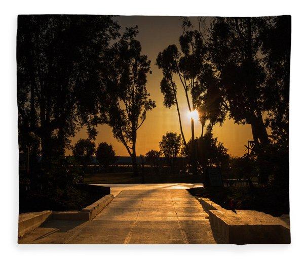 Dominguez Hills Sunset Fleece Blanket