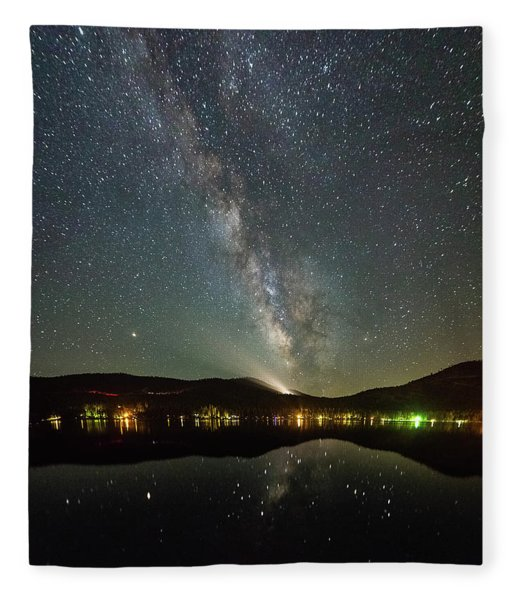 Donner Lake Milky Way Fleece Blanket
