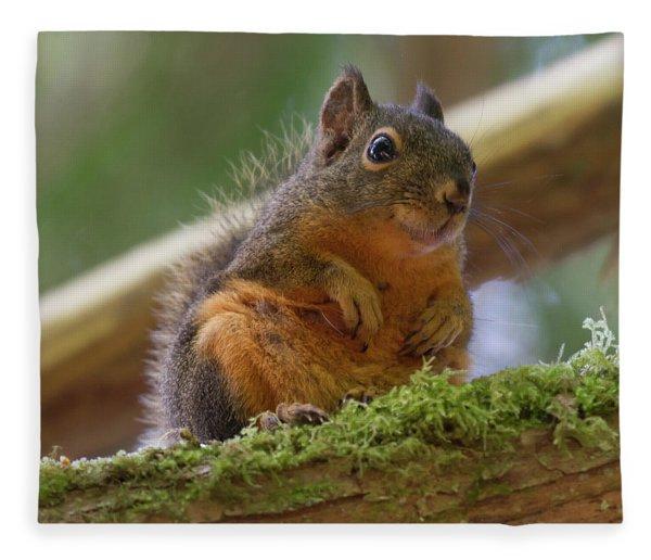 Douglas Squirrel Fleece Blanket