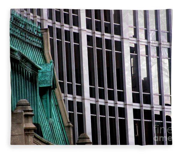 Downtown Indy Fleece Blanket