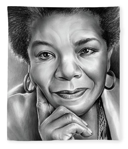 Dr Maya Angelou Fleece Blanket