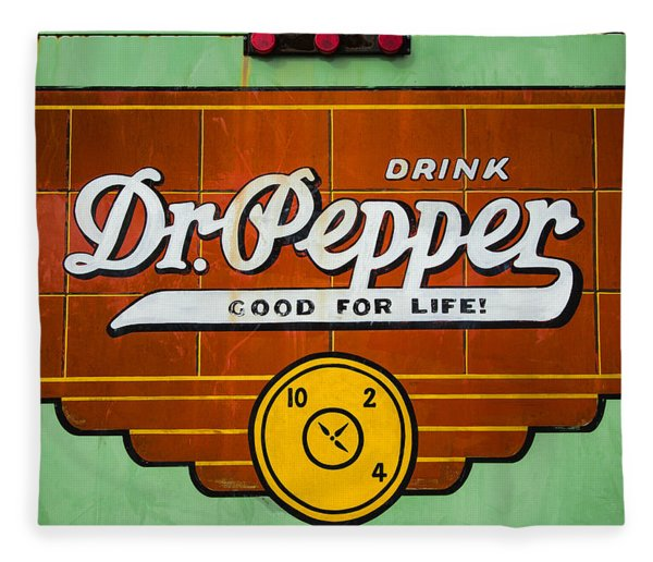 Dr Pepper Truck Sign Fleece Blanket