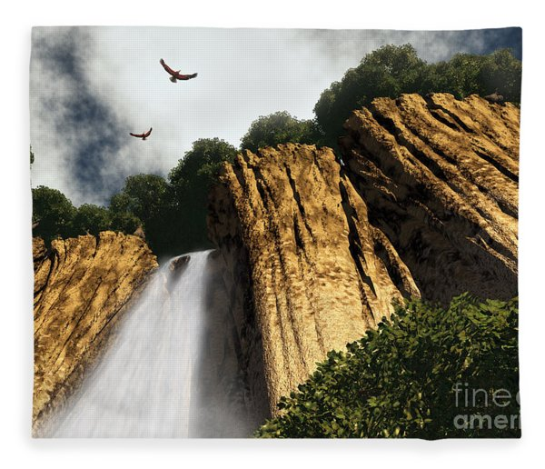 Dragons Den Canyon Fleece Blanket