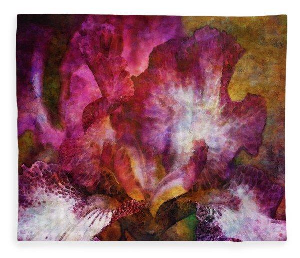 Dramatic White And Purple 0273 Idp_2 Fleece Blanket