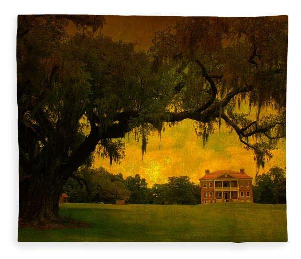 Drayton Hall Plantation In Charleston Fleece Blanket