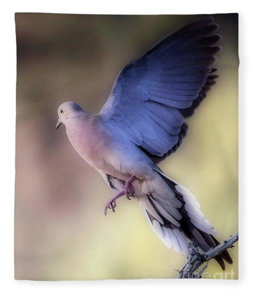Dreamy Dove Fleece Blanket