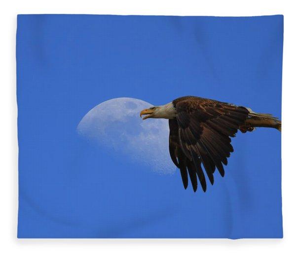 Eagle Moon Fleece Blanket