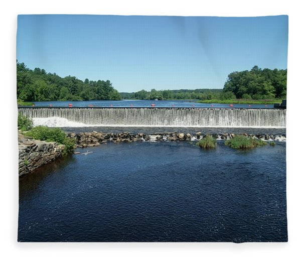Eagleville Dam, Connecticut  Fleece Blanket