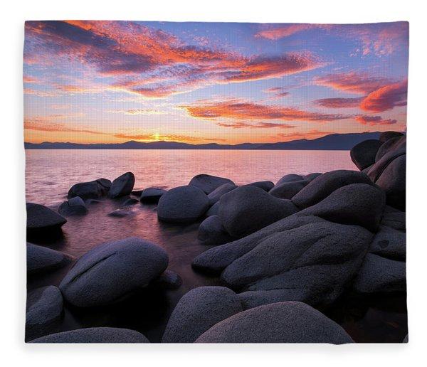 East Shore Bliss By Brad Scott Fleece Blanket