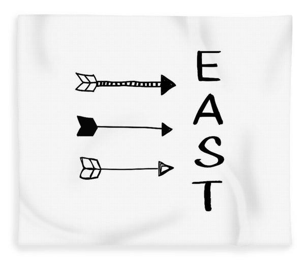 East With Arrows- Art By Linda Woods Fleece Blanket