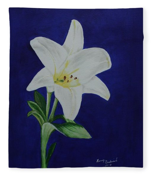 Easter Lily Fleece Blanket