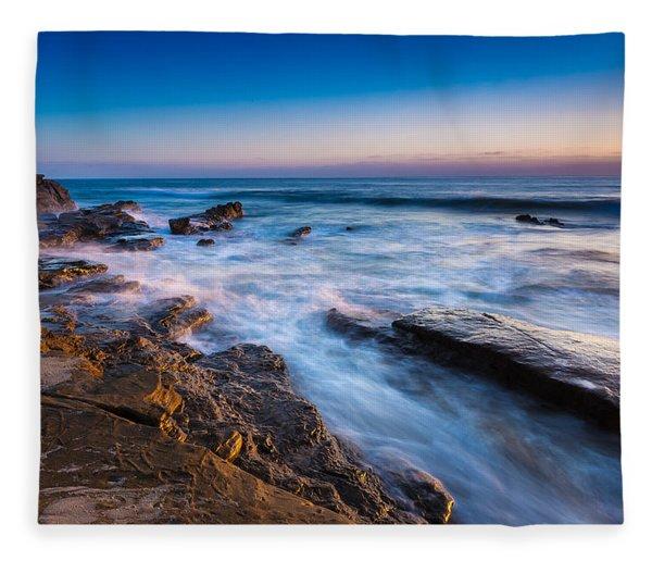 Ebb And Flow Fleece Blanket