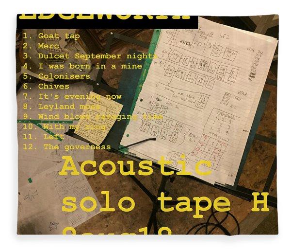 Edgeworth Acoustic Solo Tape H Fleece Blanket