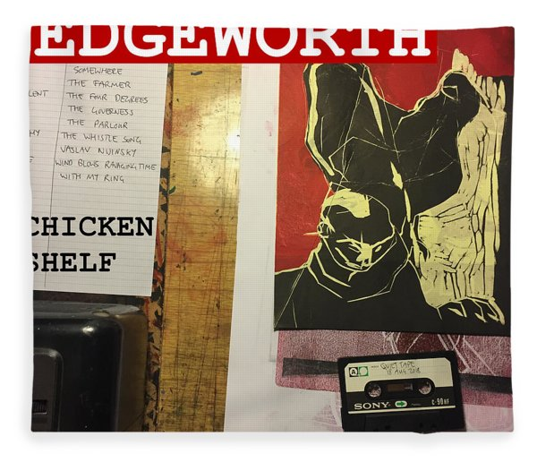 Edgeworth Chicken Shelf Cover Fleece Blanket