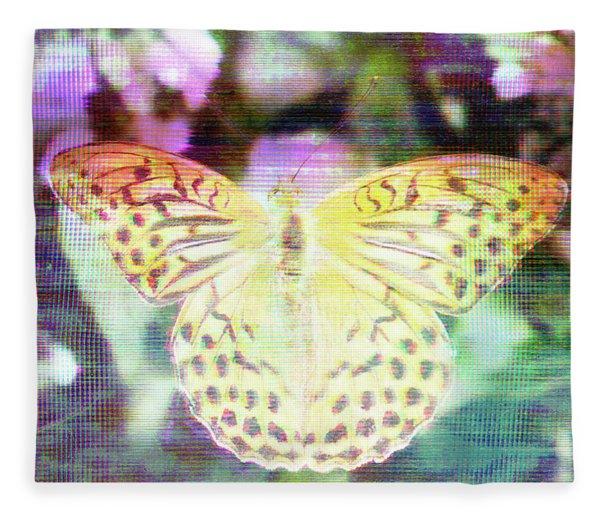 Fleece Blanket featuring the digital art Electronic Wildlife  by Bee-Bee Deigner