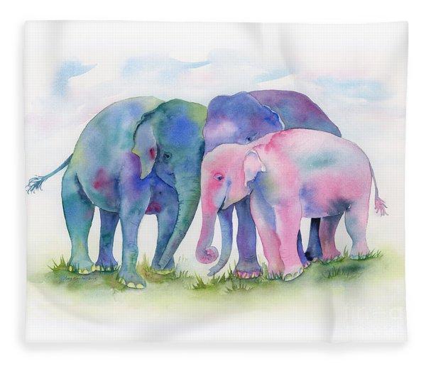 Elephant Hug Fleece Blanket