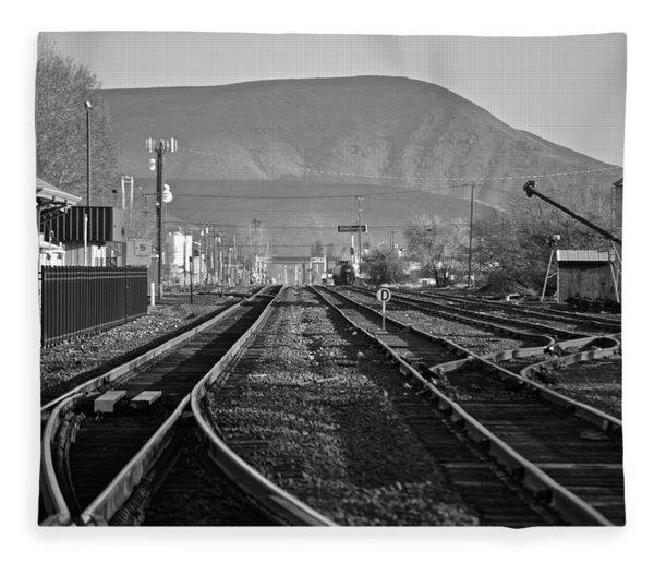 Ellensburg Station Fleece Blanket