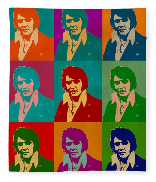 Elvis Presley Fleece Blanket