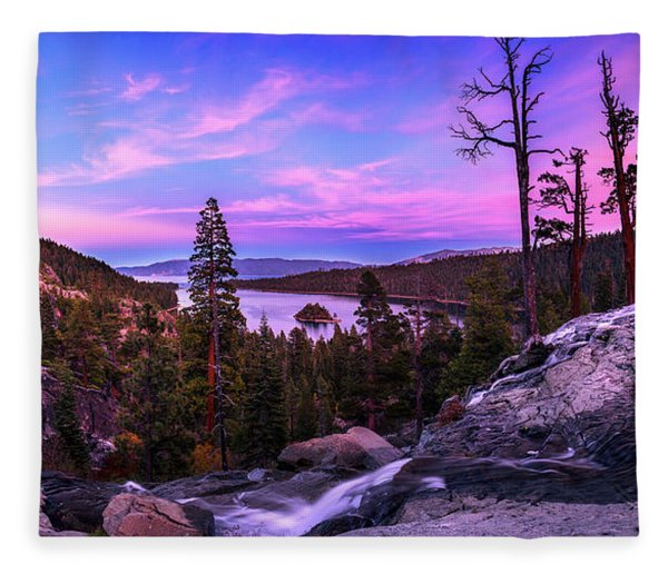 Emerald Bay Dreaming By Brad Scott Fleece Blanket