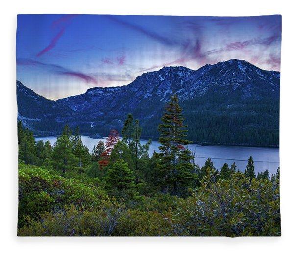 Emerald Bay Dusk By Brad Scott Fleece Blanket