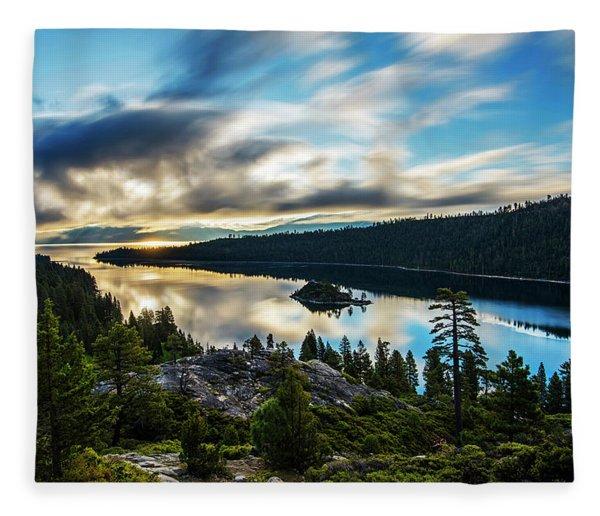 Emerald Bay Sunrise Lake Tahoe Fleece Blanket