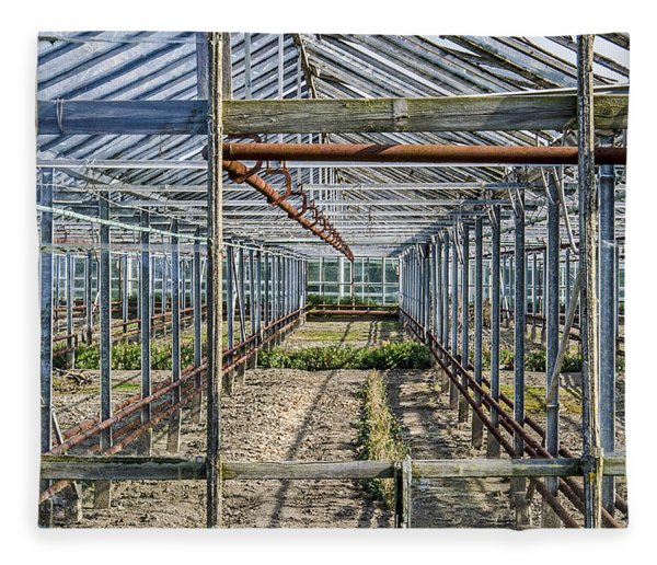 Empty Greenhouse Fleece Blanket