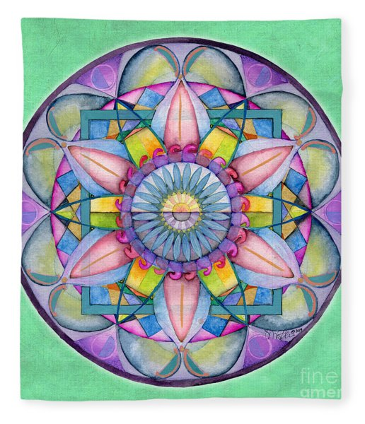 End Of Sorrow Mandala Fleece Blanket