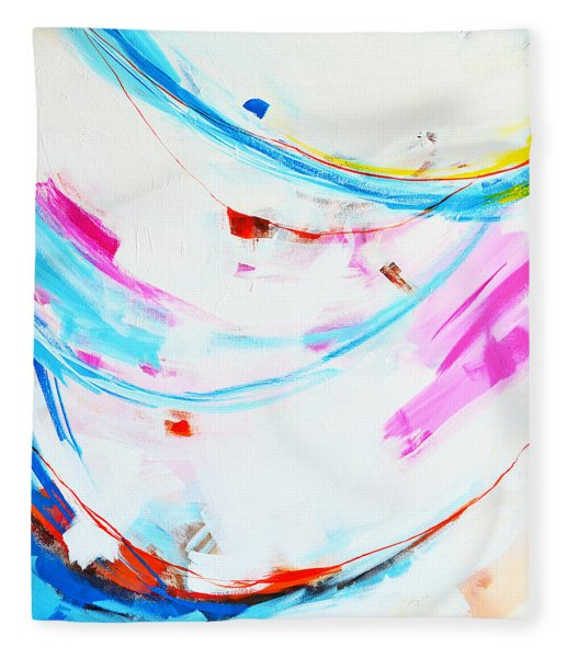 Entangled No. 8 - Left Side - Abstract Painting Fleece Blanket