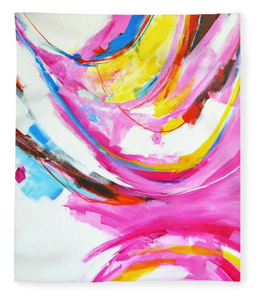 Entangled No. 8 - Right Side - Abstract Painting Fleece Blanket