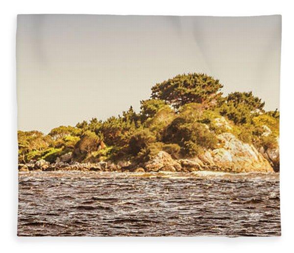 Entrance Island Lighthouse, Hells Gates Fleece Blanket