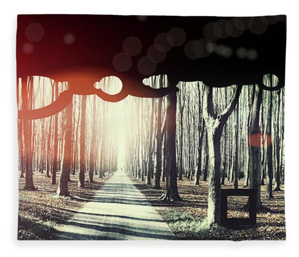 Eternity, Conceptual Background Fleece Blanket