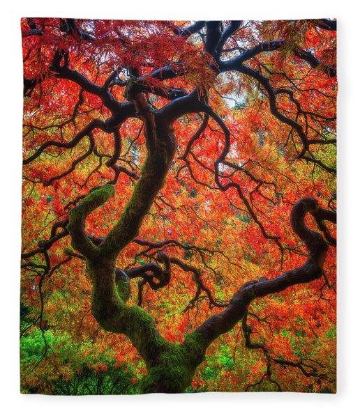 Ethereal Tree Alive Fleece Blanket