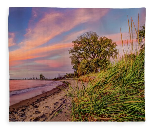 Evening Sunset Fleece Blanket