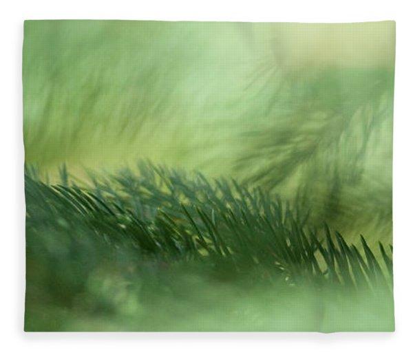 Evergreen Mist Fleece Blanket