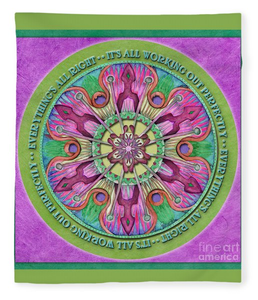 Everything's All Right Mandala Prayer Fleece Blanket