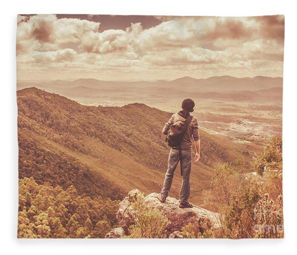 Exploring The Rugged West Coast Of Tasmania Fleece Blanket