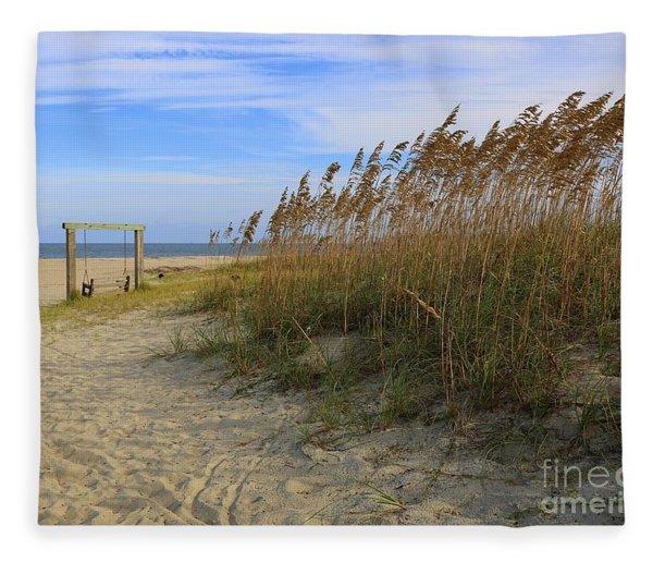 Fall Day On Tybee Island Fleece Blanket