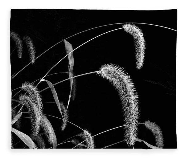 Fall Grass 3 Fleece Blanket