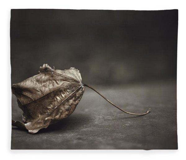 Fallen Leaf Fleece Blanket