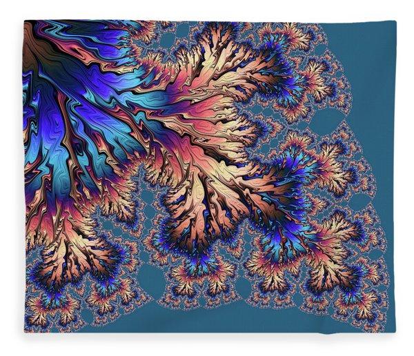Fleece Blanket featuring the digital art Fantasia by Susan Maxwell Schmidt