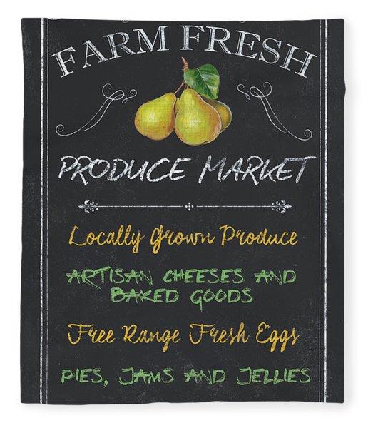 Farm Fresh Produce Fleece Blanket