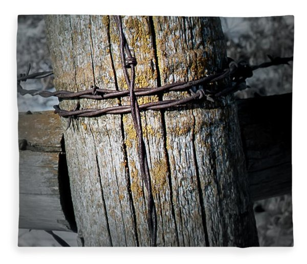 Farming Cross Fleece Blanket