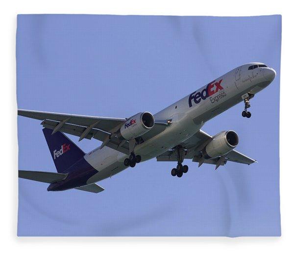 Fedex 757  Fleece Blanket