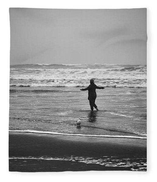 Feeling Her Joy Fleece Blanket