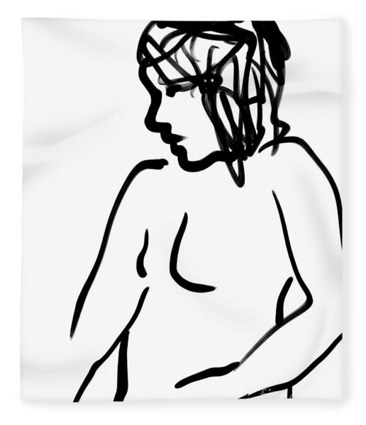 Female Nude Fleece Blanket