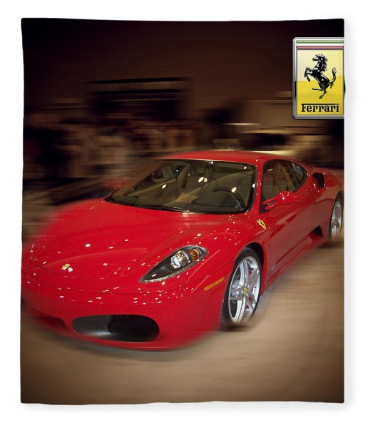 Ferrari F430 - The Red Beast Fleece Blanket