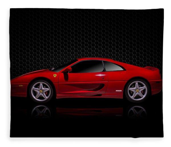 Ferrari Red - 355  F1 Berlinetto Fleece Blanket