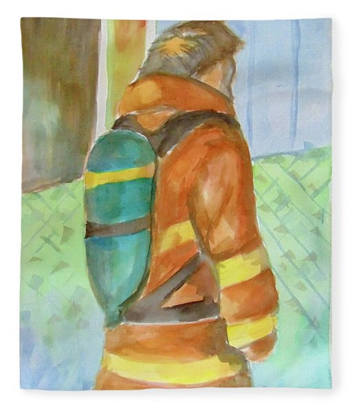 Fireman Fleece Blanket
