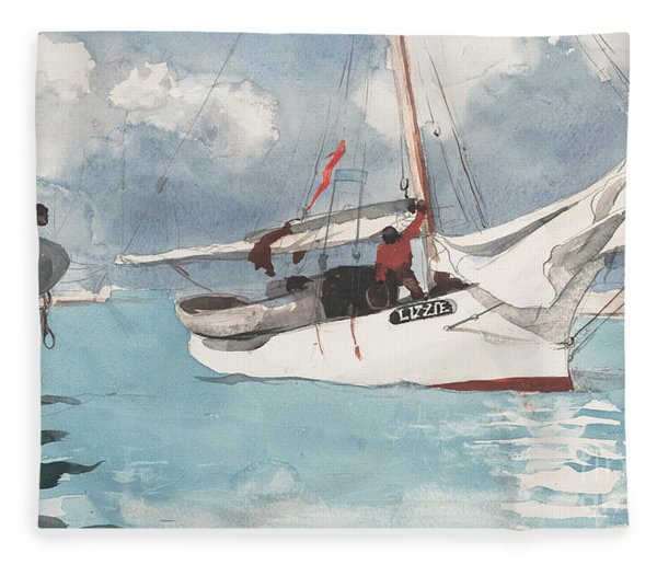 Fishing Boats, Key West, 1903 Fleece Blanket