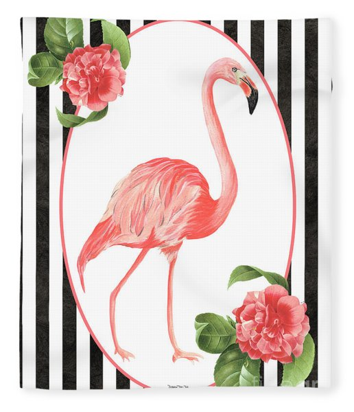 Flamingo Amore 6 Fleece Blanket